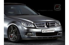 Mercedes C Class W204 Front Bumper Lip Spoiler Extension