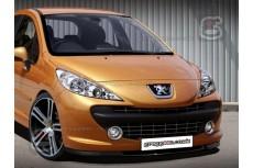 Peugeot 207 Front Bumper Lip Spoiler Extension