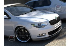 Skoda SuperB Mk2 Front Bumper Lip Spoiler Extension