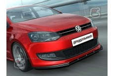 Volkswagen Polo Mk5 6R Front Bumper Lip Spoiler Extension
