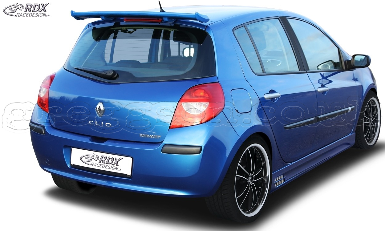 renault clio 3 phase 1 2 custom rear roof wing spoiler. Black Bedroom Furniture Sets. Home Design Ideas