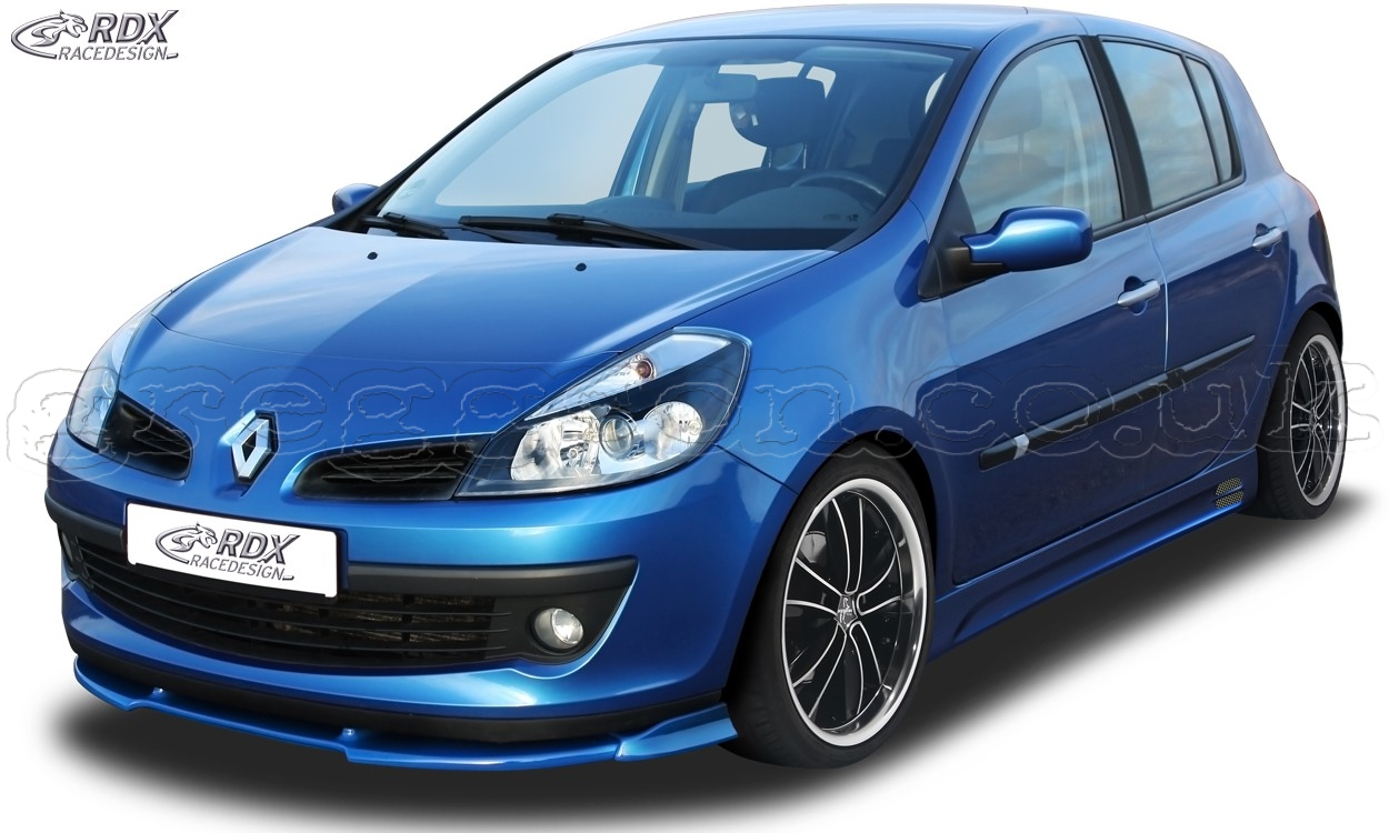 renault clio 3 phase 1 not rs front bumper lip spoiler extension splitter. Black Bedroom Furniture Sets. Home Design Ideas