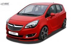 Opel Vauxhall Meriva B 2011-2013 Custom Front Bumper Lip Spoiler Extension Splitter