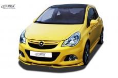 Opel Vauxhall Corsa D OPC Facelift 2010+ (OPC and OPC front bumper) Custom Front Bumper Lip Spoiler Extension Splitter