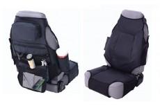Front Pair Seat Covers Black Smittybilt VEST UNIVERSAL