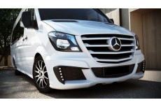 Mercedes Sprinter Mk2 Facelift Standard Versions (2013 -) Custom Front Bumper With Led