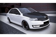 Skoda Rapid Standard Version (2013-) Custom Front Bumper Lip Spoiler Extension