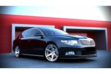 Skoda Superb Mk2 Preface Version With Sport Front Bumper Spoiler (2008-2013) Custom Front Bumper Lip Spoiler Extension