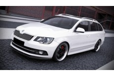 Skoda Superb Mk2 Facelift Standard Version (2013-) Custom Front Bumper Lip Spoiler Extension