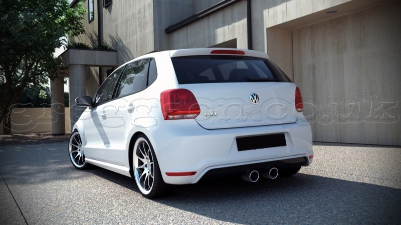 volkswagen polo mk5 gti 2009 2014 custom rear bumper valance. Black Bedroom Furniture Sets. Home Design Ideas