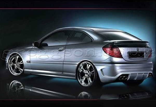 mercedes benz c class w203 coupe custom rear bumper. Black Bedroom Furniture Sets. Home Design Ideas