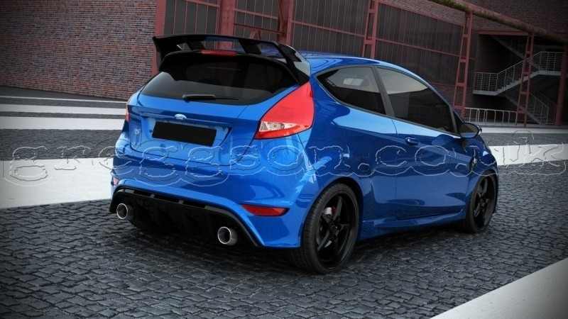 Ford Fiesta Mk7 Facelift 2013 Custom Rear Bumper Focus