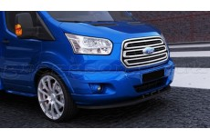 Ford Transit Mk8 (2013) Custom Front Bumper Lip Spoiler Extension