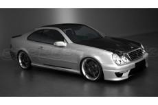 "Mercedes CLK Class W208 Standard Versions (1997 - 2003) Custom Side Skirts ""AMG Look"""