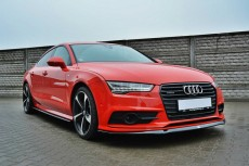 Audi A7 S Line Facelift (2014 -) Custom Front Bumper Lip Spoiler Extension