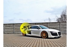 Audi R8 (2006 - 2015) Custom Set Splitters Front Bumper Lip Spoiler & Side Skirts Diffuser