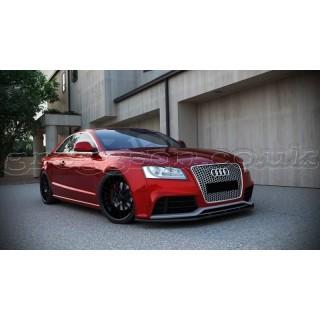 Audi RS5 Prefacelift (2010-2011) Custom Front Bumper Lip Spoiler Extension
