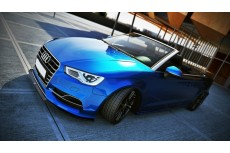 Audi S3 8V Sedan Cabrio (2012 -) Custom Front Bumper Lip Spoiler Extension