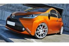 Toyota Aygo Mk2 (2014 -) Custom Front Bumper Spoiler Extension Splitter