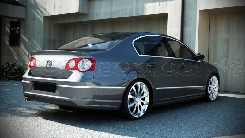 Custom Smart Car >> Volkswagen Passat B6 Saloon (2005-2010) Custom Rear Bumper Spoiler Extension Splitter R Line Look