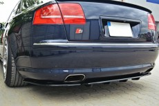 Audi S8 D3 (2006 - 2010) Custom Rear Bumper Central Splitter