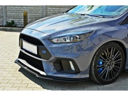 Ford Focus Mk3 RS (2015 -) Custom Front Bumper Lip Spoiler Extension V3