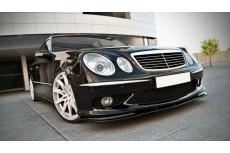 Mercedes E W211 AMG Preface (2002 - 2006) Custom Front Bumper Lip Spoiler Extension