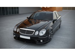 Mercedes E W211 AMG Facelift  (2006 - 2009) Custom Front Bumper Lip Spoiler Extension