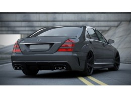 Mercedes W221 (2005 - 2013) Custom Rear Bumper (Look W205)