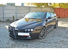 Alfa Romeo 159 (2005-2011) Custom Front Bumper Lip Spoiler Extension V2