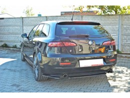 Alfa Romeo 159 2005-2011 Custom Central Rear Bumper Diffusers Without Vertical Bars