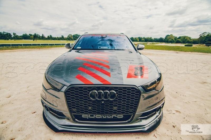 Audi A6 C7 S Line (2011 -) Custom Racing Front Bumper Lip Spoiler ...