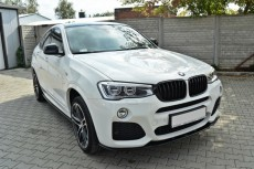BMW X4 F26 M Pack (2014 -) Custom Set Of Splitters Extension Diffuser