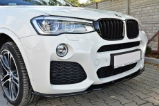 BMW X4 F26 M Pack (2014 -) Custom Front Bumper Lip Spoiler Extension Diffuser
