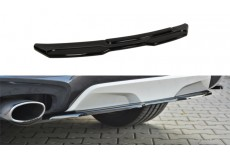 BMW X4 F26 M Pack (2014 -) Custom Central Rear Bumper Diffusers (Without a Vertical Bar)