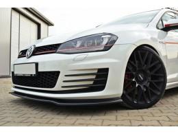 Volkswagen Golf Mk7 GTI (2012 -) Custom Front Bumper Lip Spoiler Extension Diffuser V2