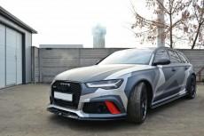 Audi RS6 C7 (2013 -) Custom Front Bumper Lip Spoiler Extension Diffuser V.2