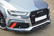 Audi RS6 C7 (2013 -) Custom Front Bumper Lip Spoiler Extension Diffuser V.1