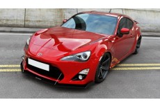 Toyota GT86 (2012 -) Custom Racing Front Bumper Lip Spoiler Extension Diffuser (WITH WINGS)