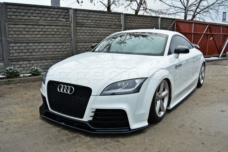 audi tt rs mk2 2009 2014 custom front bumper lip spoiler extension diffuser v2. Black Bedroom Furniture Sets. Home Design Ideas