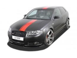 Audi A3 8P (2006-2008) S Line / A3 Sportback (-2008) S Line Front Bumper Lip Spoiler Extension Splitter Diffuser