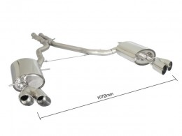 BMW Z4 E89 23i 150kW - 30i 190kW (05/2009-2012) Stainless Steel Dual Sport Performance Exhaust Silencer