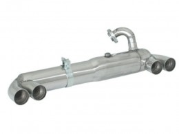Smart Fortwo Coupe Cabrio Type MC01/450 600cc - 698cc (1998 - 12/2006) Stainless Steel Sport Performance Exhaust Silencer