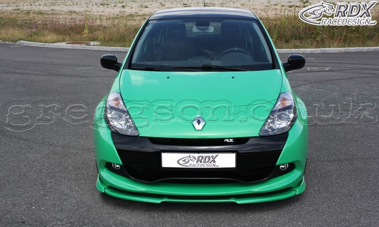 renault clio 3 rs phase 2 front bumper lip spoiler extension splitter. Black Bedroom Furniture Sets. Home Design Ideas