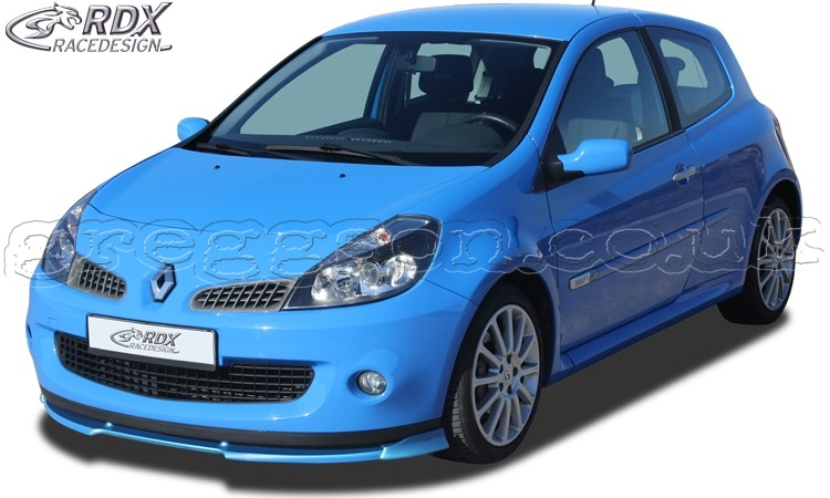 renault clio 3 rs phase 1 front bumper lip spoiler extension splitter. Black Bedroom Furniture Sets. Home Design Ideas