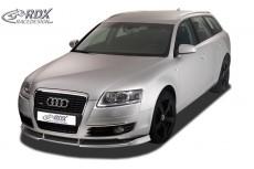 Audi A6 4F (-2008) Front Bumper Lip Spoiler Extension Splitter