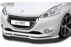 Peugeot 208 Front Bumper Lip Spoiler Extension Splitter Extensions