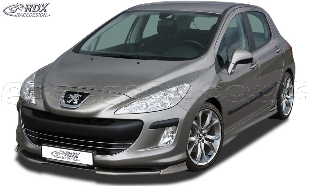 peugeot 308 phase 1 front bumper lip spoiler extension splitter. Black Bedroom Furniture Sets. Home Design Ideas